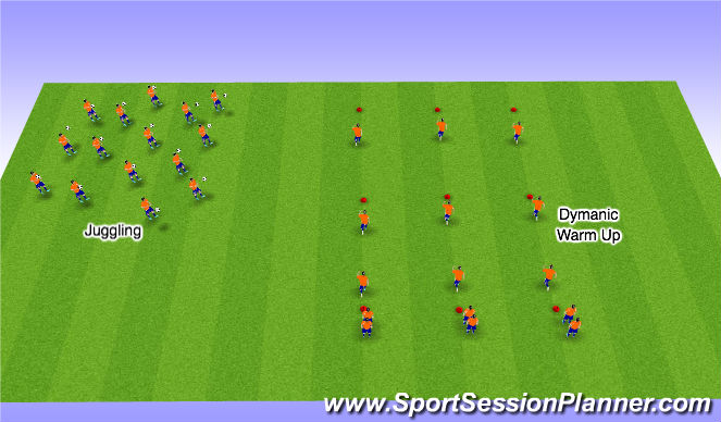 Football/Soccer Session Plan Drill (Colour): Stage 1
