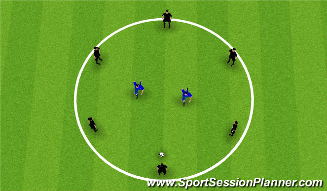 Football/Soccer Session Plan Drill (Colour): Circle Rondo