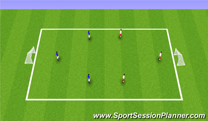 Football/Soccer Session Plan Drill (Colour): SSG - No coaching