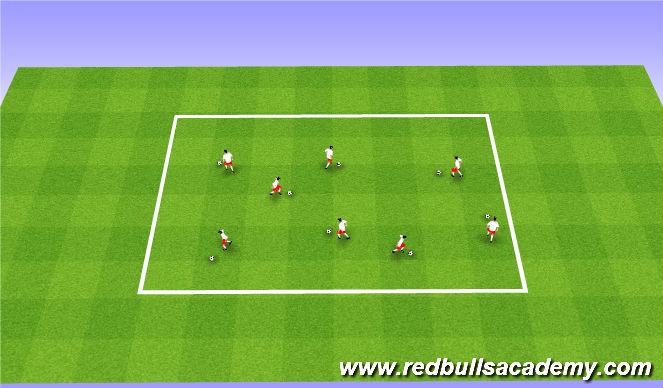 Football/Soccer Session Plan Drill (Colour): Warm-Up (Ball Comfort)