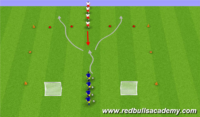 Football/Soccer Session Plan Drill (Colour): Main Theme (Fully Opposed)