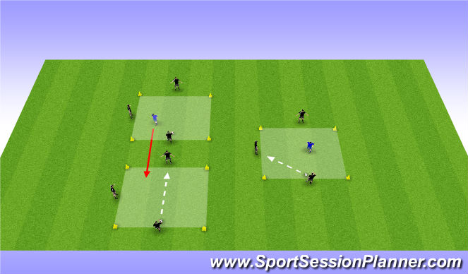 Football/Soccer Session Plan Drill (Colour): Rondo's