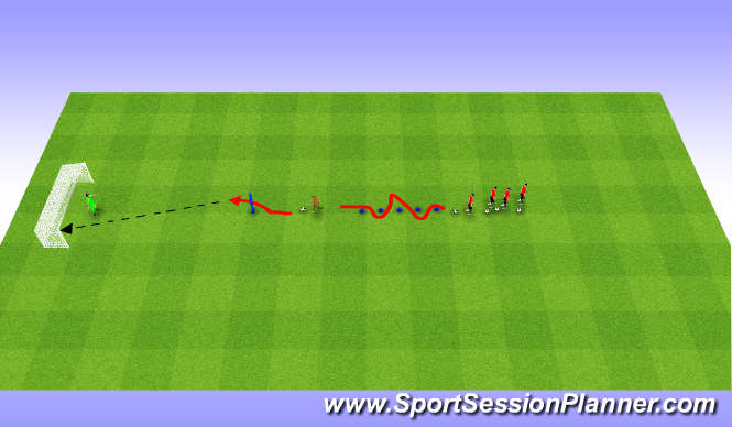 Football/Soccer Session Plan Drill (Colour): Station 3