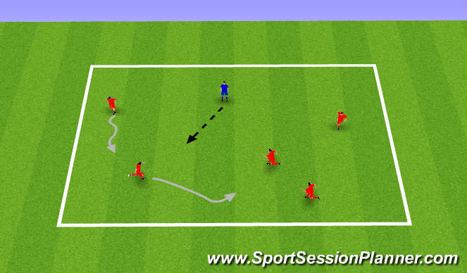 Football/Soccer Session Plan Drill (Colour): Pre K-K