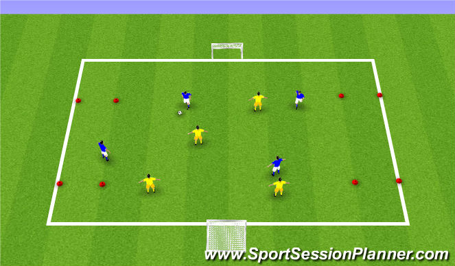 Football/Soccer Session Plan Drill (Colour): 3 Games in 1