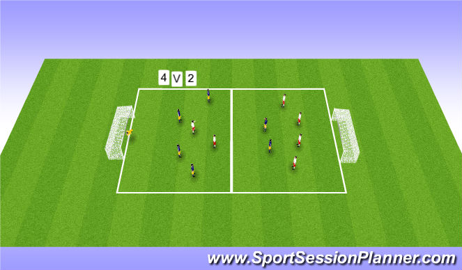 Football/Soccer Session Plan Drill (Colour): u12