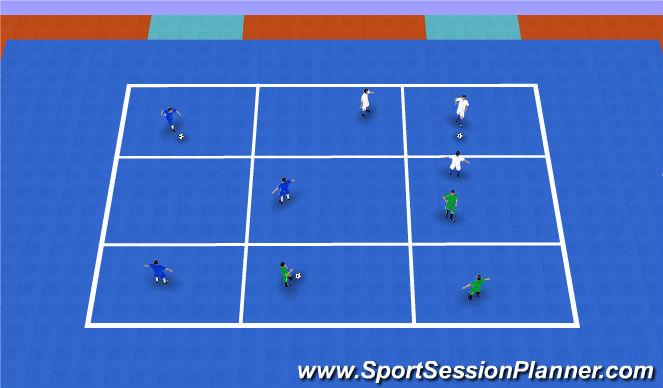Futsal Session Plan Drill (Colour): Warm UP
