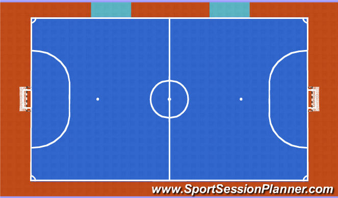 Futsal Session Plan Drill (Colour): SSG with Conditions