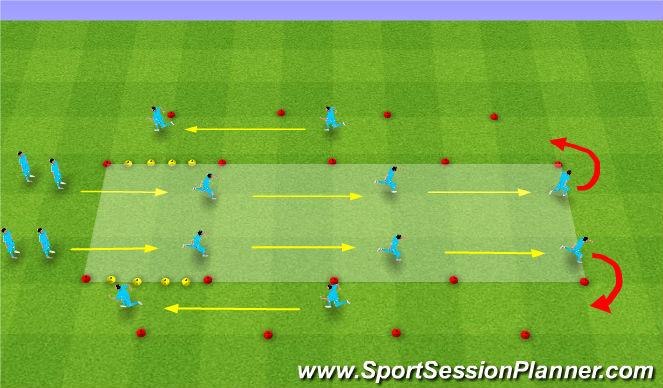 Football/Soccer Session Plan Drill (Colour): FIFA WARM UP