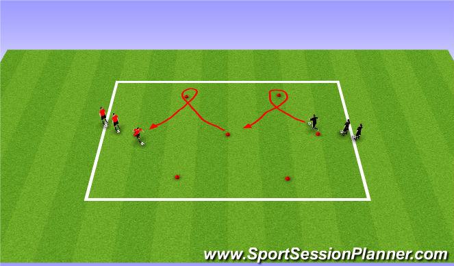 Football/Soccer Session Plan Drill (Colour): Zig Zag Dribbling