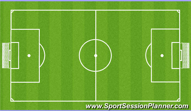 Football/Soccer Session Plan Drill (Colour): Play - 7v7 + 1