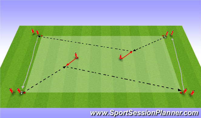 Football/Soccer Session Plan Drill (Colour): Technique # 1