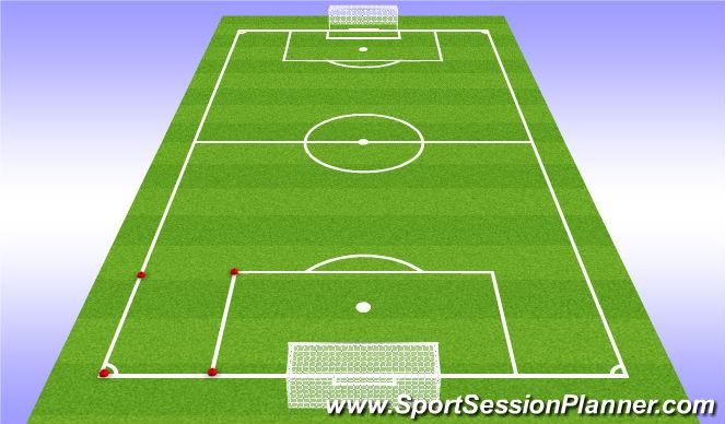 Football/Soccer Session Plan Drill (Colour): 7v7+1