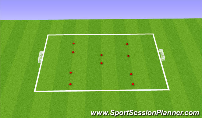 Football/Soccer Session Plan Drill (Colour): 5v5 pressing game