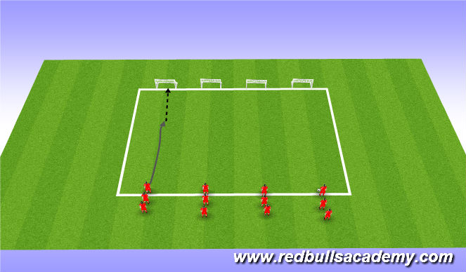 Football/Soccer Session Plan Drill (Colour): Shooting relays