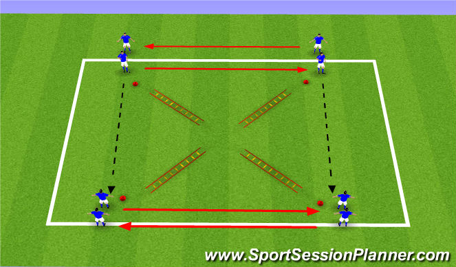 Football/Soccer Session Plan Drill (Colour): First