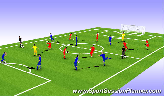 Football/Soccer Session Plan Drill (Colour): Partner Activities
