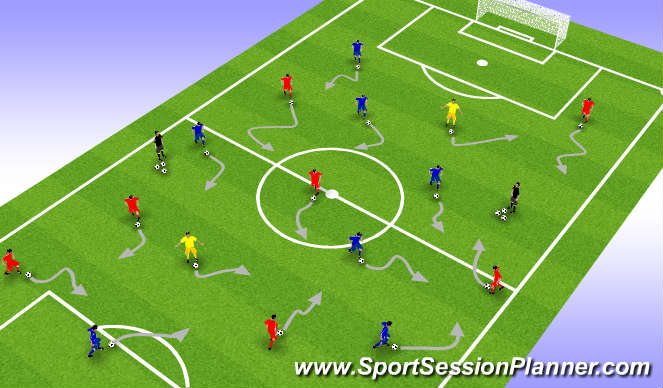 Football/Soccer Session Plan Drill (Colour): Individual Activities