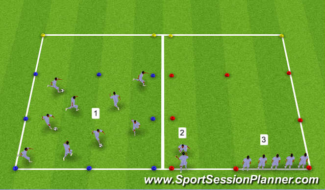 Football/Soccer Session Plan Drill (Colour): Speed - Acceleration / Deceleration
