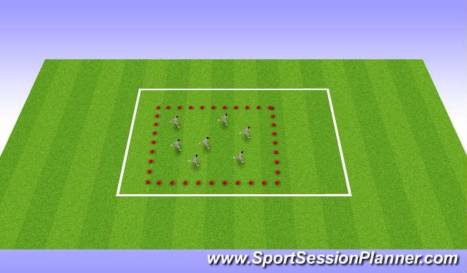 Football/Soccer Session Plan Drill (Colour): Running Mechanics