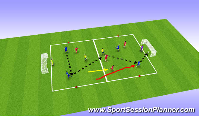 Football/Soccer Session Plan Drill (Colour): SSG   (IFR)