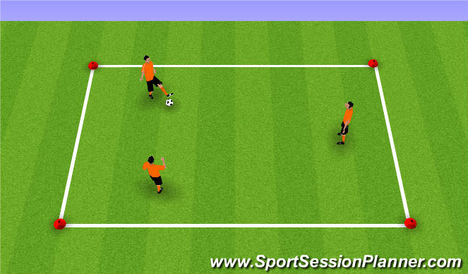 Football/Soccer Session Plan Drill (Colour): movement into space
