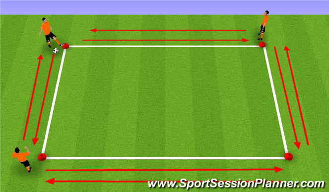 Football/Soccer Session Plan Drill (Colour): Working the lines