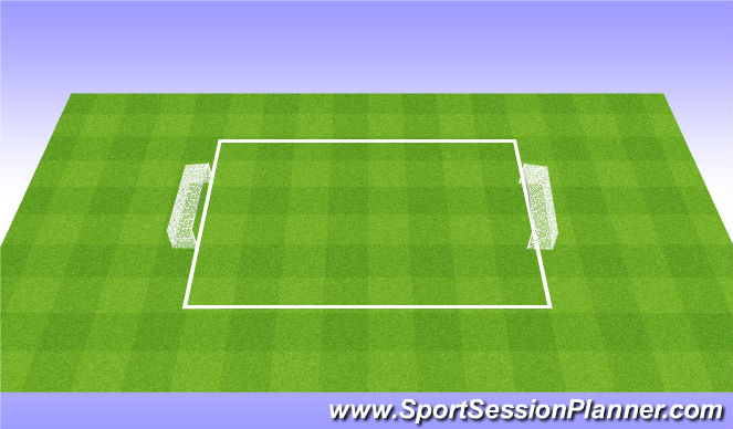 Football/Soccer Session Plan Drill (Colour): 7v7 - short field