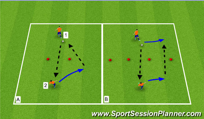 Football/Soccer Session Plan Drill (Colour): Passing/Receiving Activity