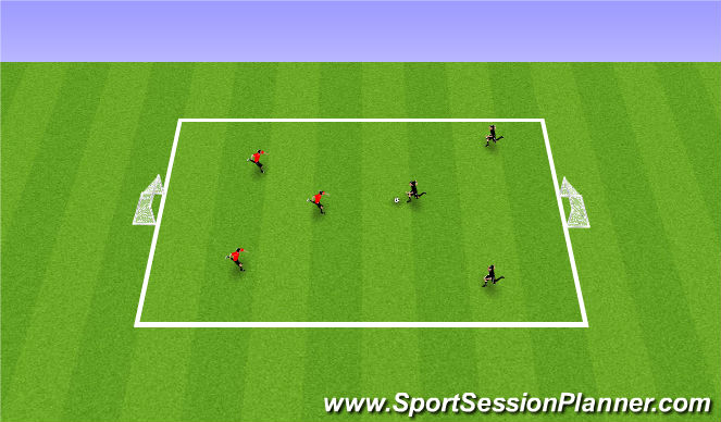 Football/Soccer Session Plan Drill (Colour): Free Play SSG
