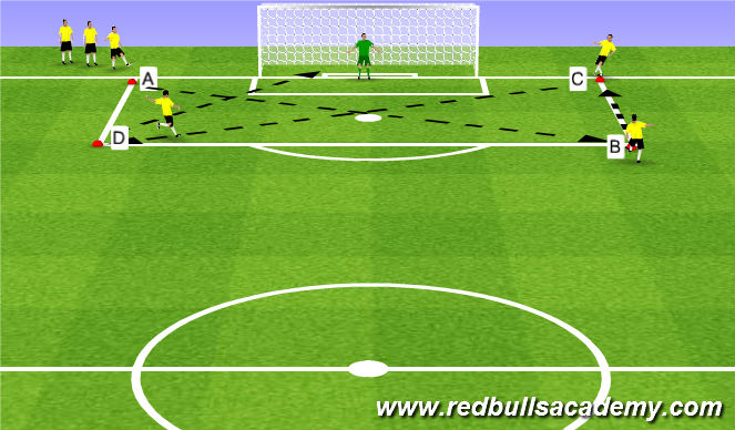 Football/Soccer Session Plan Drill (Colour): Main Theme 1 (807)