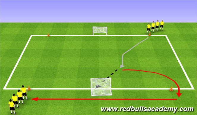 Football/Soccer Session Plan Drill (Colour): Main Theme 2 (809)