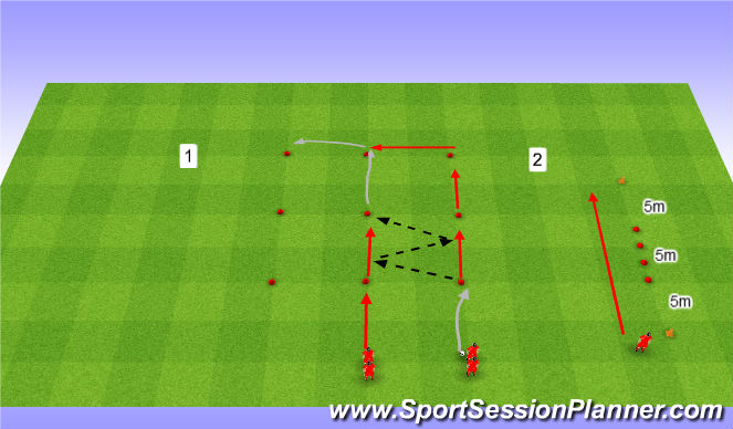 Football/Soccer Session Plan Drill (Colour): Rozgrzewka Drużynowa 4