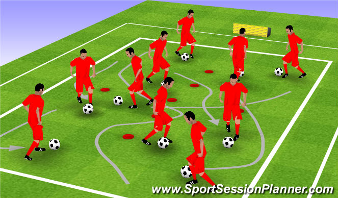 Football/Soccer Session Plan Drill (Colour): SMALL GROUP WORK