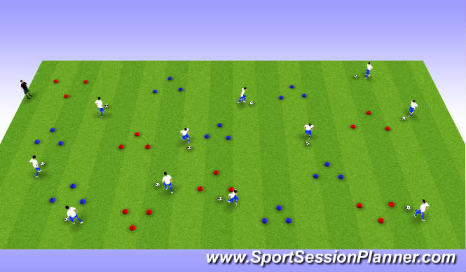 Football/Soccer Session Plan Drill (Colour): Warm-Up 3
