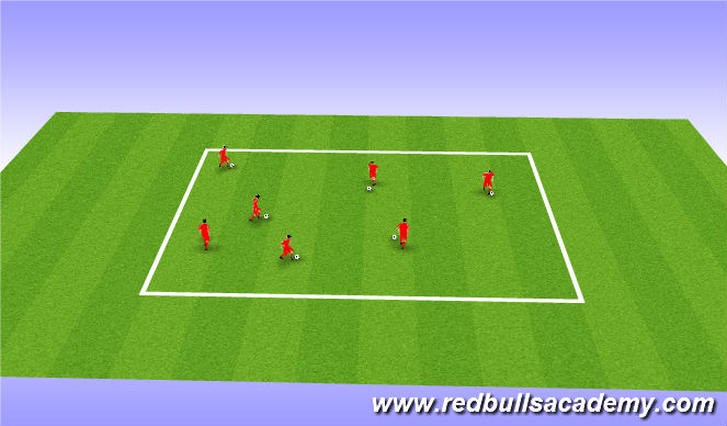Football/Soccer Session Plan Drill (Colour): Juggling Warmup
