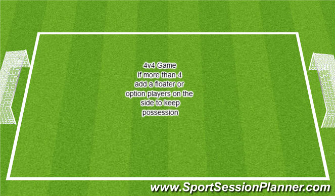 Football/Soccer Session Plan Drill (Colour): SSG - End Game