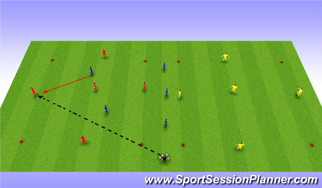 Football/Soccer Session Plan Drill (Colour): 5 vs 2
