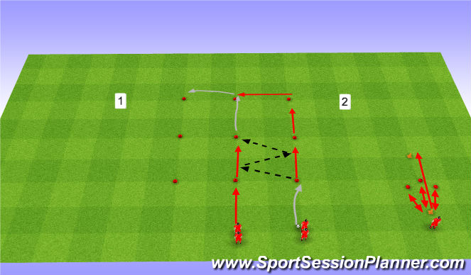 Football/Soccer Session Plan Drill (Colour): Rozgrzewka Drużynowa 4