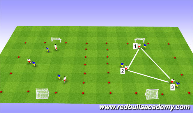 Football/Soccer Session Plan Drill (Colour): 3v3 Tournament Play
