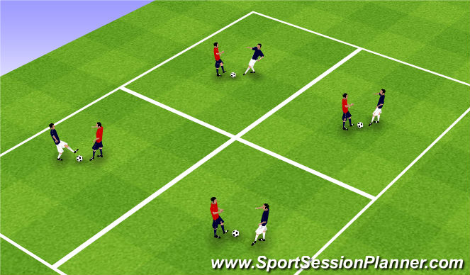 Football/Soccer Session Plan Drill (Colour): SI Technical Warm-Up