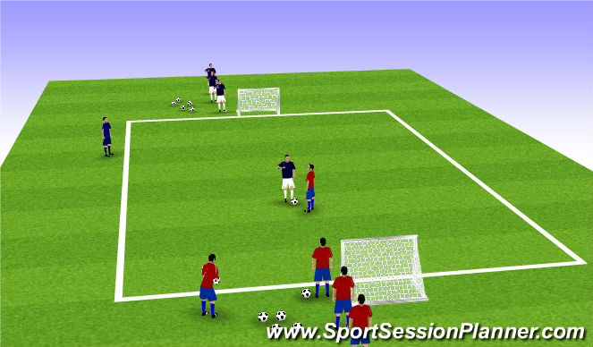 Football/Soccer Session Plan Drill (Colour): SI Technical Warm-Up 2