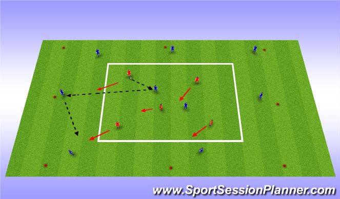 Football/Soccer Session Plan Drill (Colour): 5 vs 2 + 8