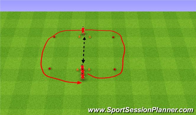 Football/Soccer Session Plan Drill (Colour): Relays. Sztafeta