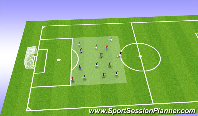 Football/Soccer Session Plan Drill (Colour): Final Warmup