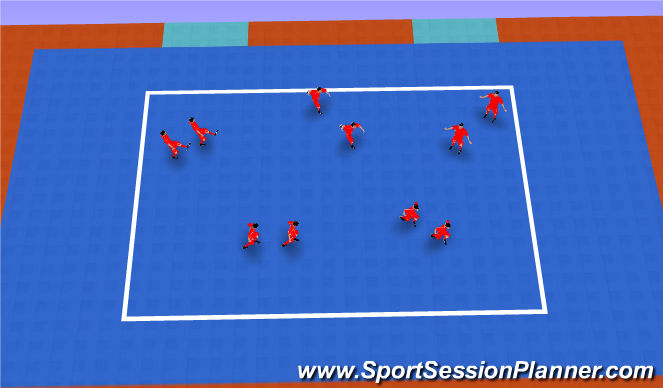 Futsal Session Plan Drill (Colour): La Sombra