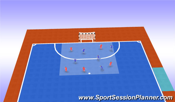 Futsal Session Plan Drill (Colour): Balonmano y final
