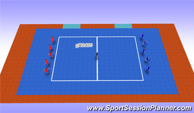 Futsal Session Plan Drill (Colour): Pañuelo