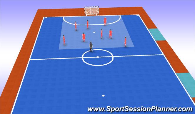 Futsal Session Plan Drill (Colour): Entrenador dice