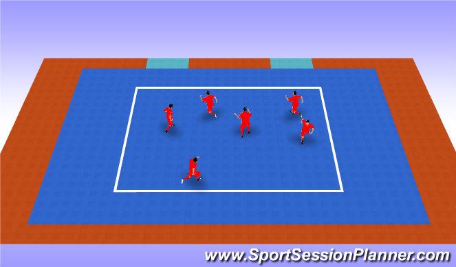 Futsal Session Plan Drill (Colour): Robacolas